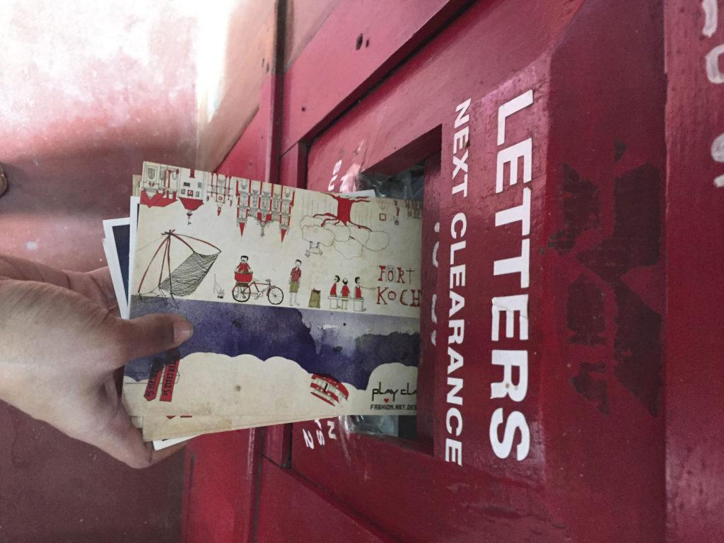 Post card drop off