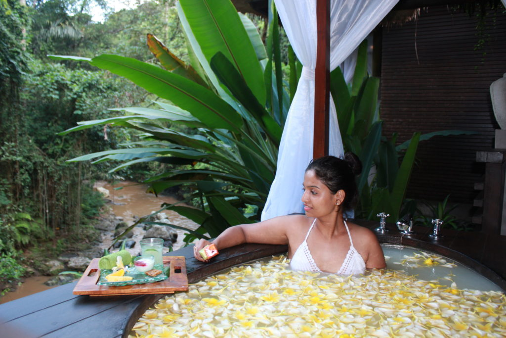 Flower Bath in Bali