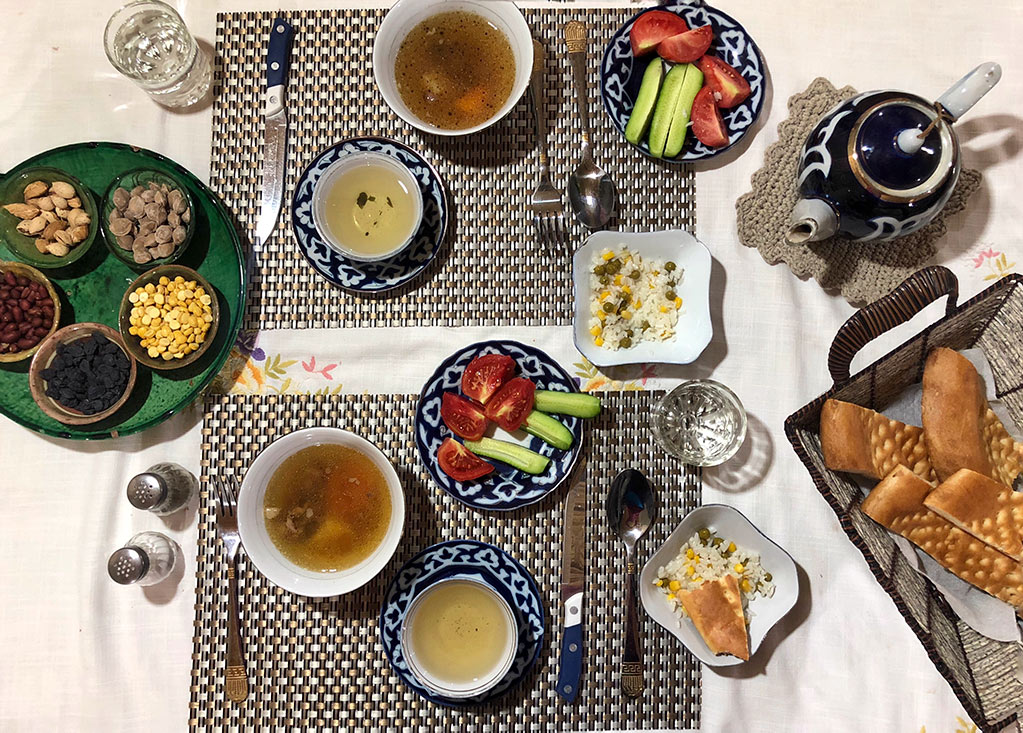 Uzbek Food spread